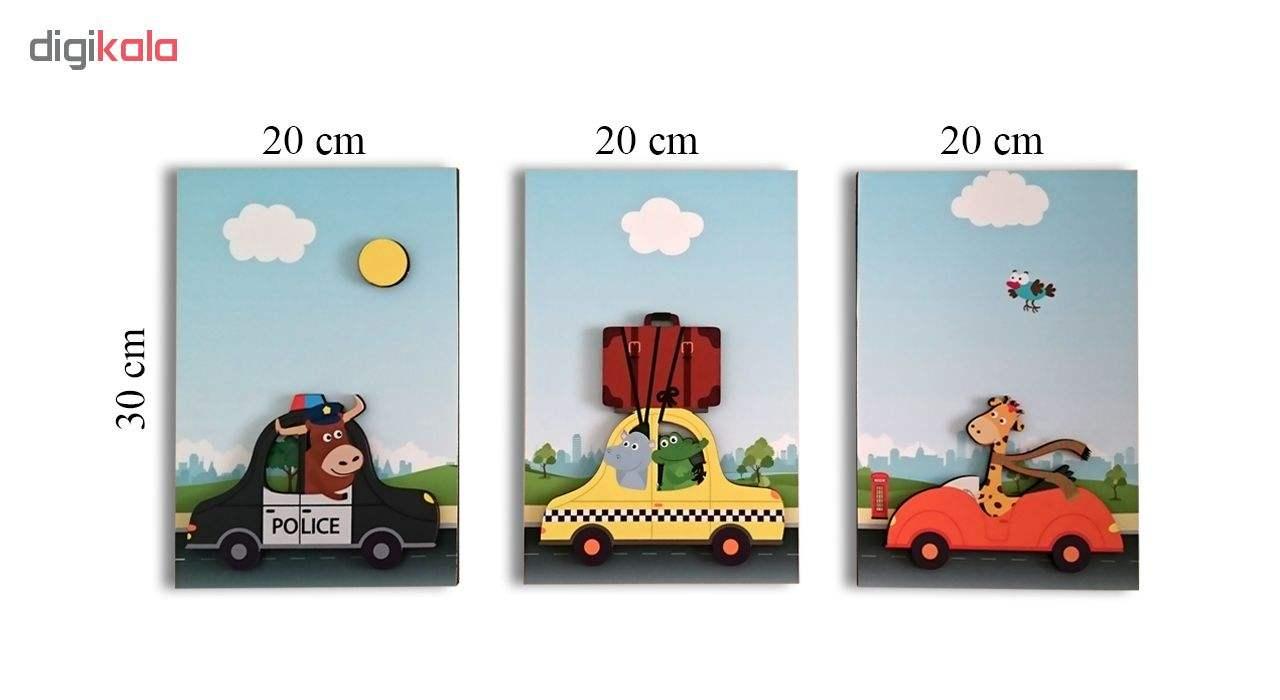 تابلو برجسته کودک ژیوار مدل Animals Car main 1 4