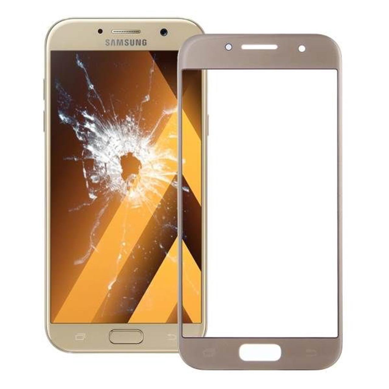 محافظ صفحه نمایش شیشه ای مدل 3D مناسب برای گوشی موبایل سامسونگ Galaxy A7 2017