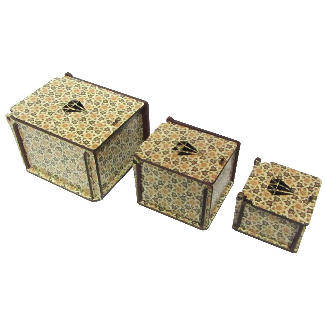 جعبه جواهرات مدل ستاره مجموعه سه عددی