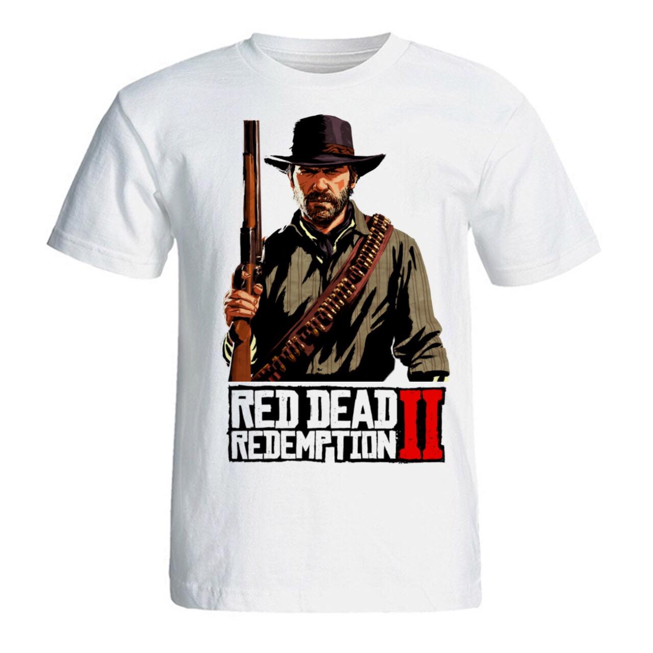 عکس تی شرت مردانه سالامین طرح Red Dead Redemption 2 کد SA201