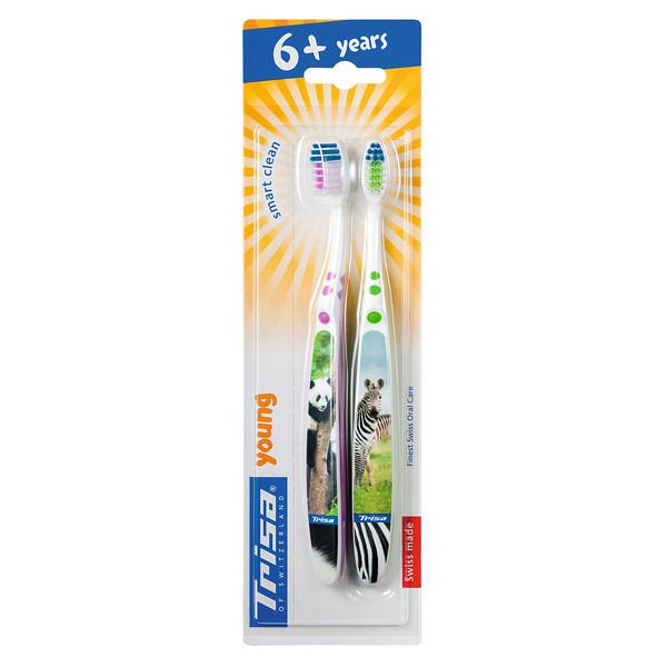 مسواک کودک تریزا مدل Smart Clean برای کودکان 6 سال به بالا بسته 2 عددی