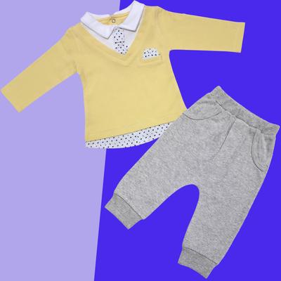 ست پولوشرت و شلوار نوزادی پسرانه کد 3146