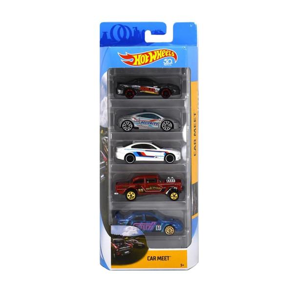 ماشین بازی هات ویلزمدل Car Meet کد FKT59 مجموعه 5 عددی