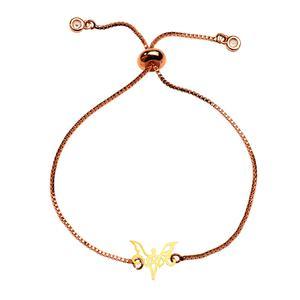دستبند طلا 18 عیار دخترانه کرابو طرح فرشته مدل Krd1084