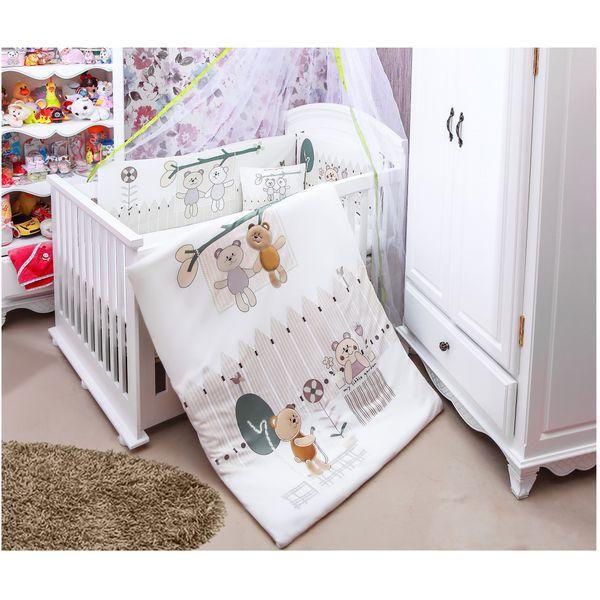 سرویس خواب 7 تکه نوزاد طرح باغچه