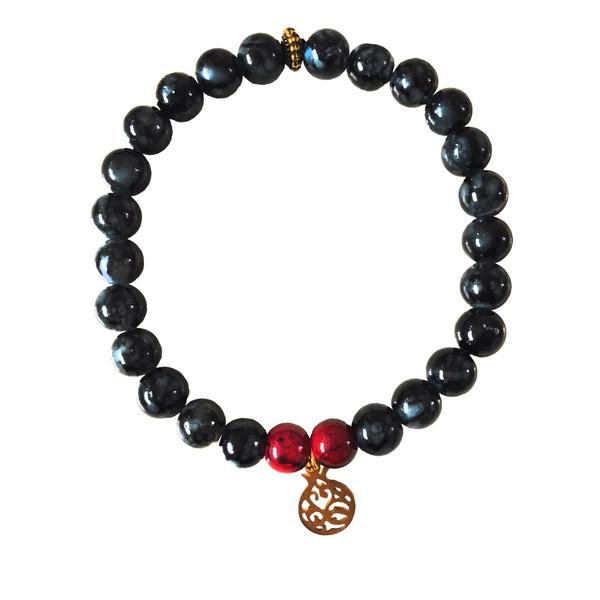 دستبند دخترانه طرح انار مدل یلدا