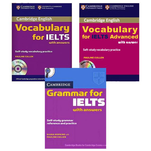 کتاب Grammar and Vocabulary for IELTS اثر Pauline Cullen انتشارات هدف نوین 3 جلدی