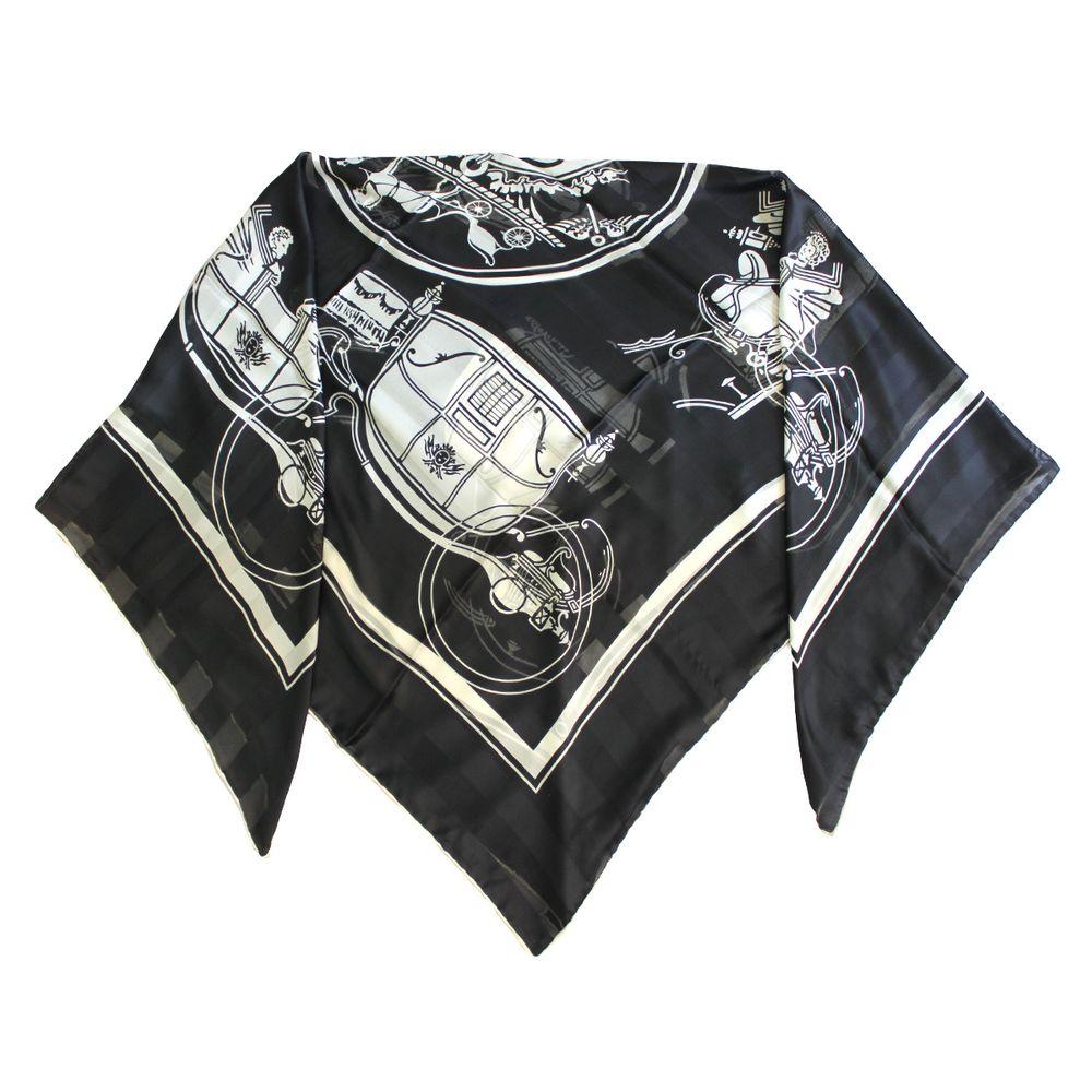 روسری زنانه کوکو طرح درشکه کد 3952