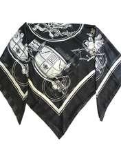 روسری زنانه کوکو طرح درشکه کد 3952 -  - 1