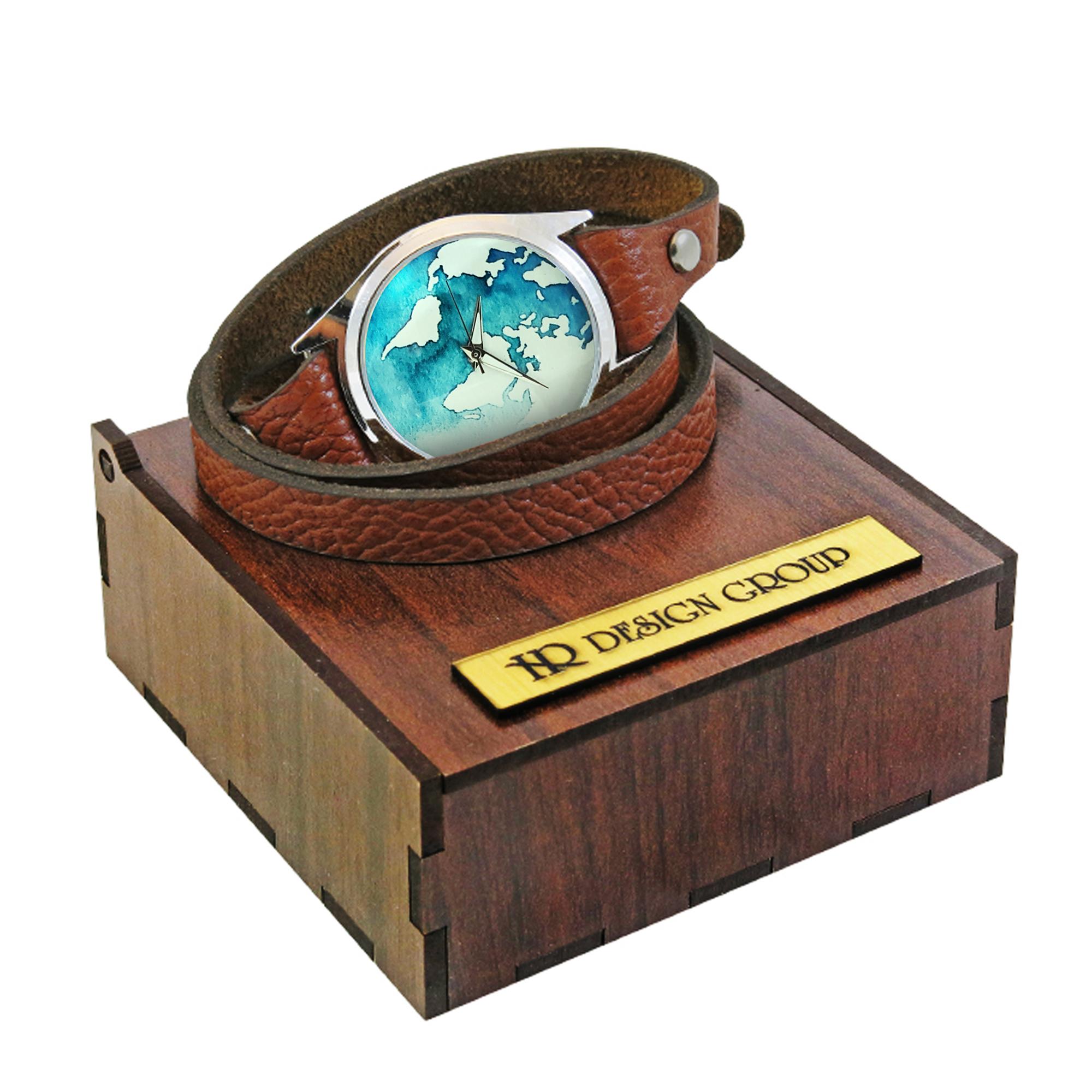 ساعت مچی عقربه ای اچ آر دیزاین گروپ مدل زمین w034