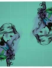 روسری زنانه 27 طرح girl کد H03 -  - 6