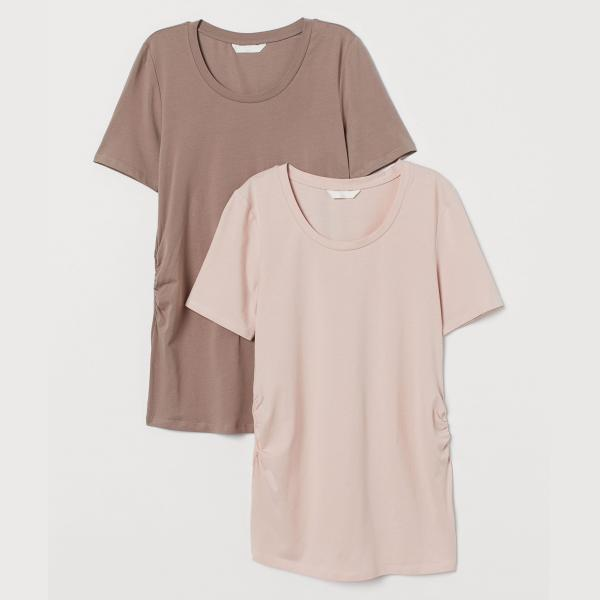 تی شرت بارداری اچ اند ام مدل 0851936013 بسته 2 عددی