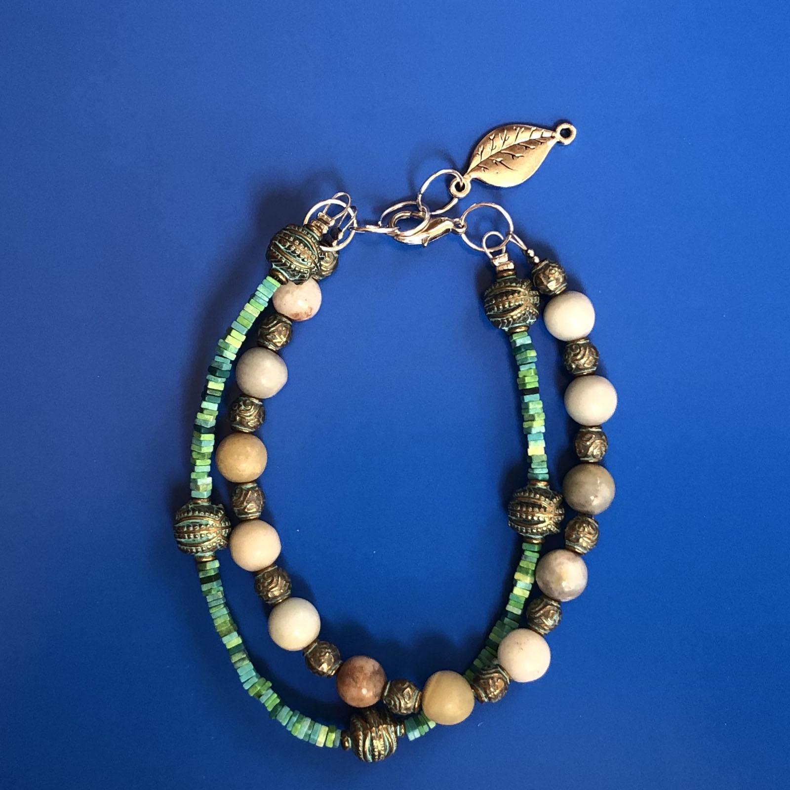 دستبند زنانه  طرح برگ کد 200