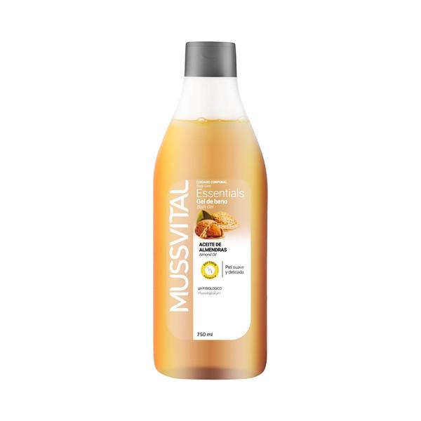 ژل شست و شوی بدن موسویتال مدل  almond oil  bath gel an حجم 750 میلی  لیتر