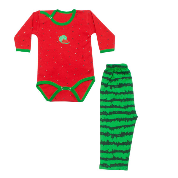 ست لباس نوزادی طرح یلدا کد 3