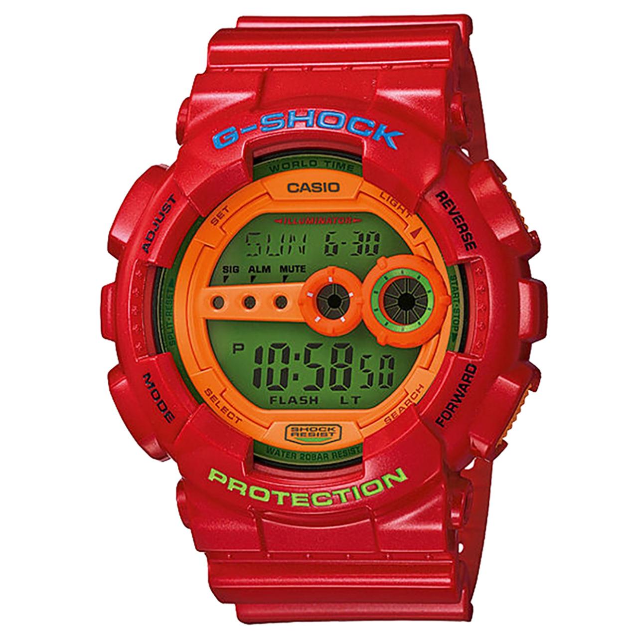 ساعت مچی دیجیتالی کاسیو جی شاک مدل GD-100HC-4DR 35