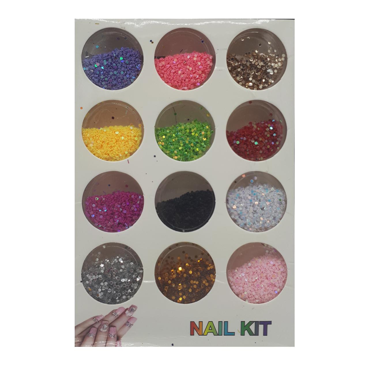 پک تزئین ناخن مدل Nail Kit-3 مجموعه 12 عددی