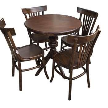 میز و صندلی ناهارخوری چوبی اسپرسان چوب مدل sl01