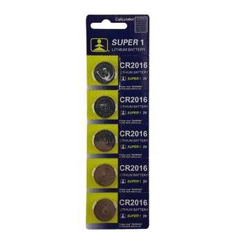 باتری سکه ای سوپر وان مدل CR2016 بسته 5 عددی