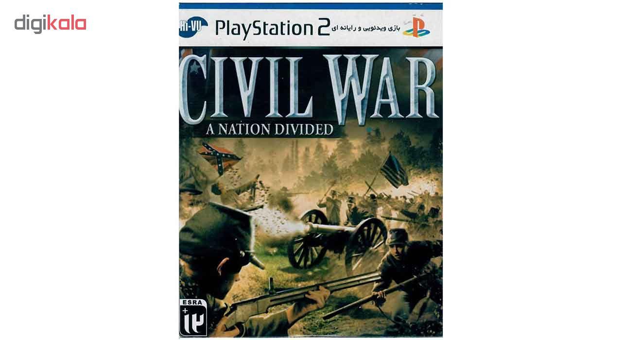 خرید اینترنتی بازی Civil War A Nation Divided مخصوص PS2 اورجینال