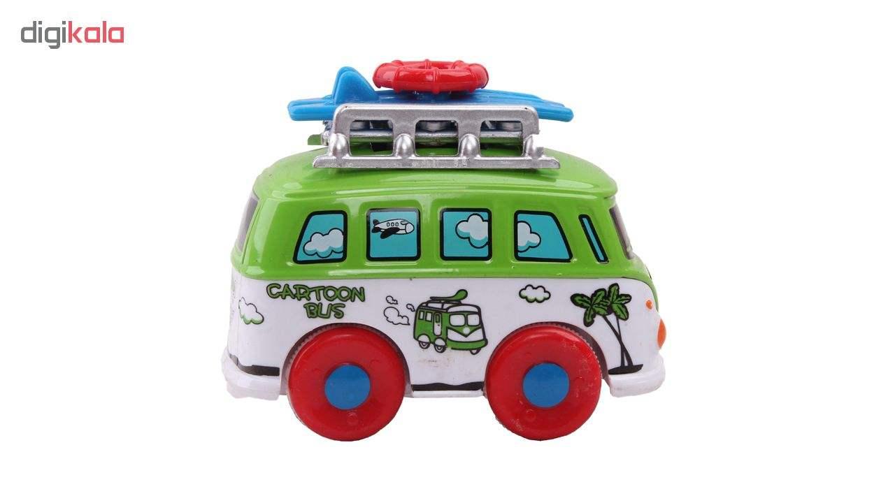 ماشین اسباب بازی اتوبوس مسافرتی مدل 9758