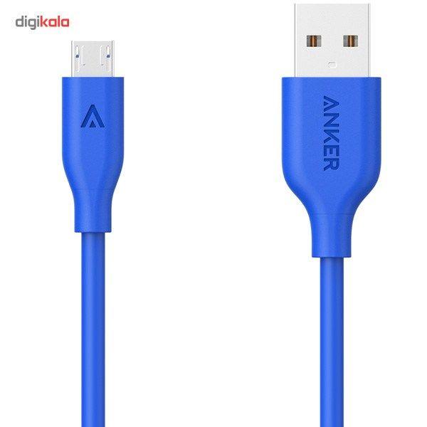 کابل تبدیل USB به microUSB انکر مدل A8134 PowerLine طول 3 متر main 1 2