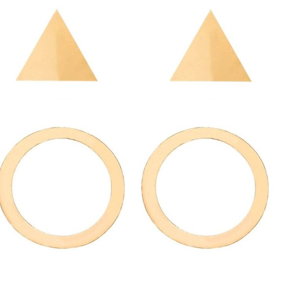 گوشواره نقره زنانه آی ام مدل ثلاثه مجموعه 2 عددی