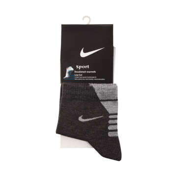 جوراب مردانه مدل N-2020 رنگ ذغالی