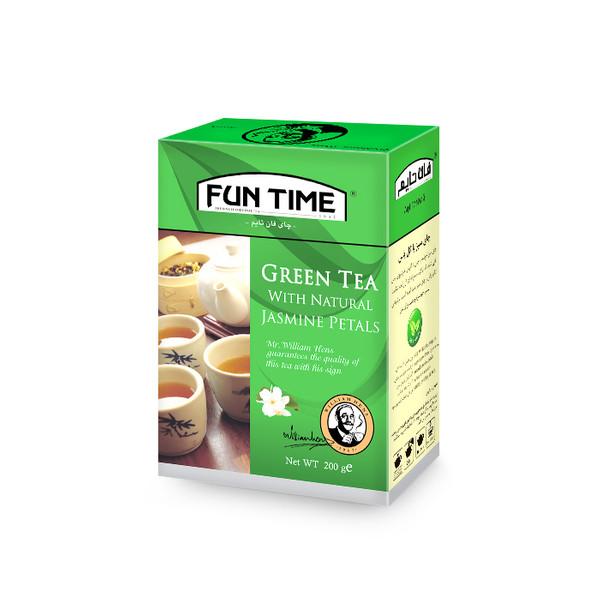 چای سبز فان تایم مدل چای سبز با گل یاس وزن 200 گرم
