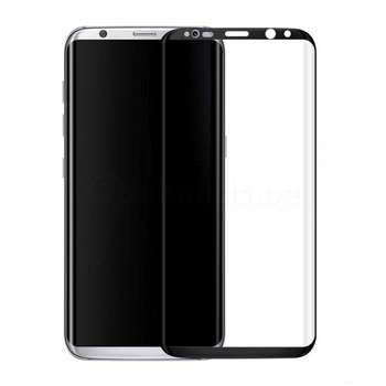 محافظ صفحه نمایش شیشه ای مدل 4D مناسب برای گوشی موبایل سامسونگ Galaxy S8 Plus