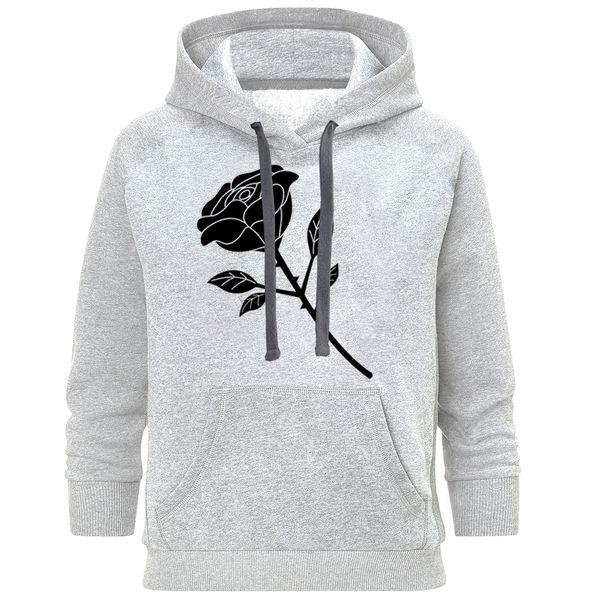 هودی زنانه مدل گل سیاه کد A30