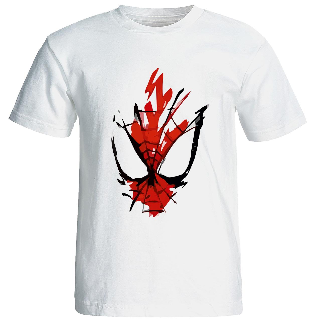 عکس تی شرت مردانه طرح مرد عنکبوتی کد w210