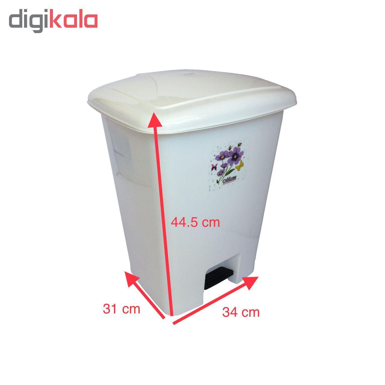 سطل زباله ممتاز پلاستیک مدل 730 ظرفیت ۲۵ لیتری main 1 6