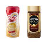 قهوه فوری نسکافه مدل GOLD مقدار 100 گرمی به همراه کافی میت نستله 400 گرمی thumb
