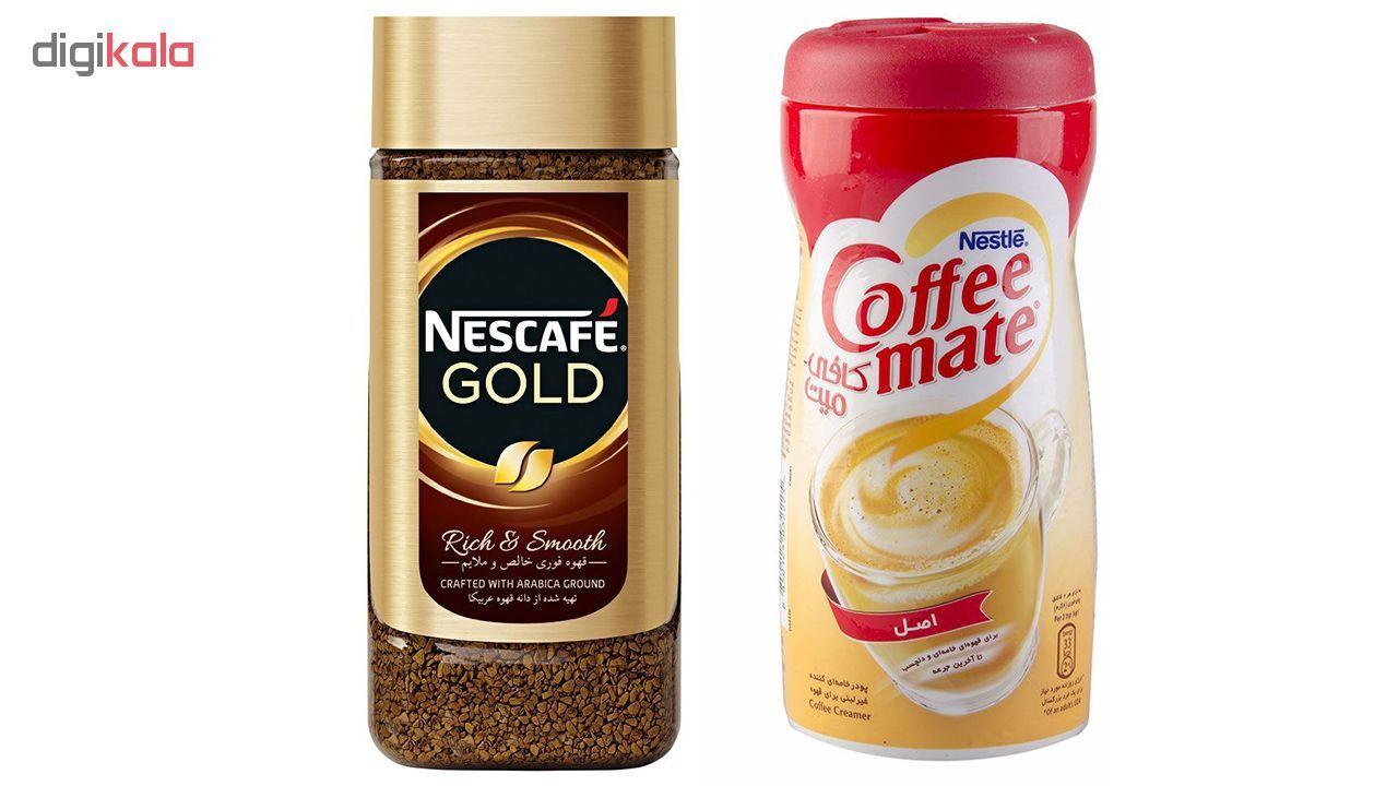 قهوه فوری نسکافه مدل GOLD مقدار 100 گرمی به همراه کافی میت نستله 400 گرمی main 1 1