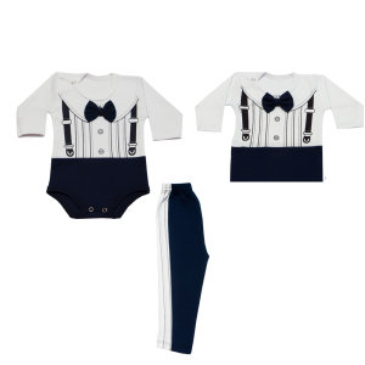 ست سه تکه لباس نوزادی مدل شیکا
