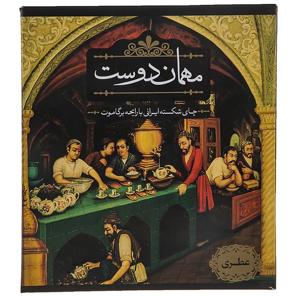 چای شکسته ایرانی با رایحه برگاموت مهمان دوست مقدار 450 گرم