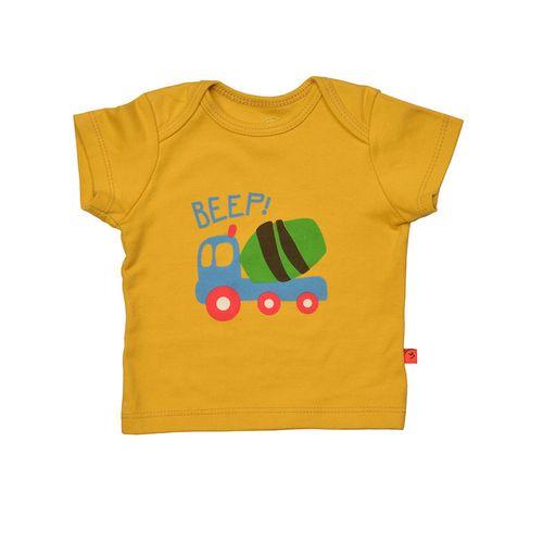 تی شرت آستین کوتاه نوزادی شابن طرح تراک