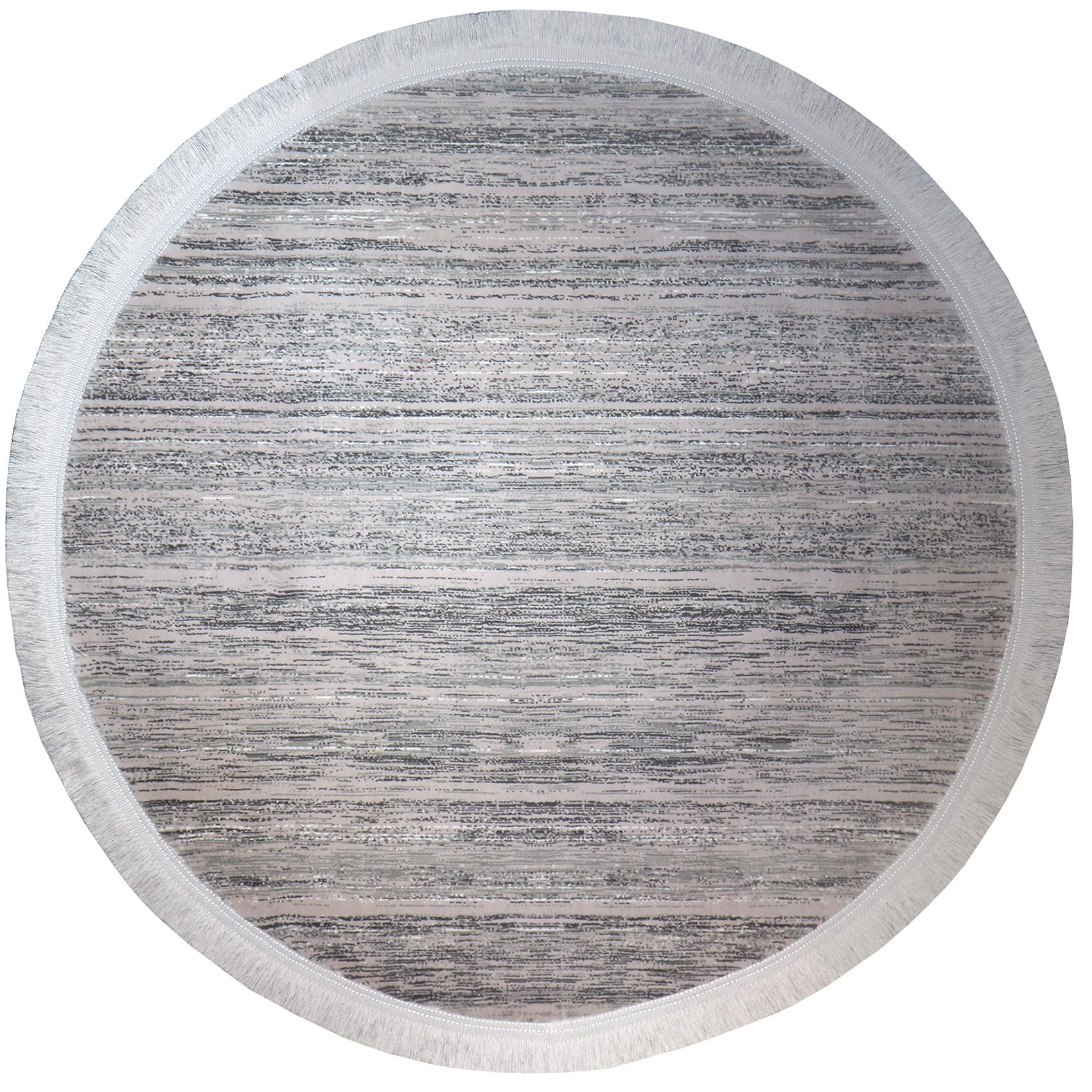 فرش ماشینی رادین اصفهان طرح گرد  گبه  14 رنگ زمینه طوسی