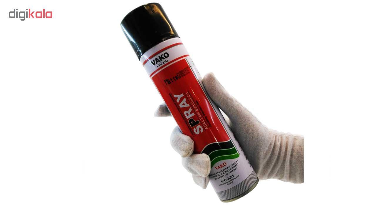 اسپری رنگ مشکی براق واکو حجم 300 میلی لیتر              ( قیمت عمده )