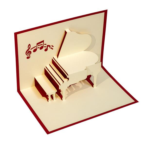 کارت پستال گروه هنری ارژنگ طرح پیانو قرمز کد CR011d