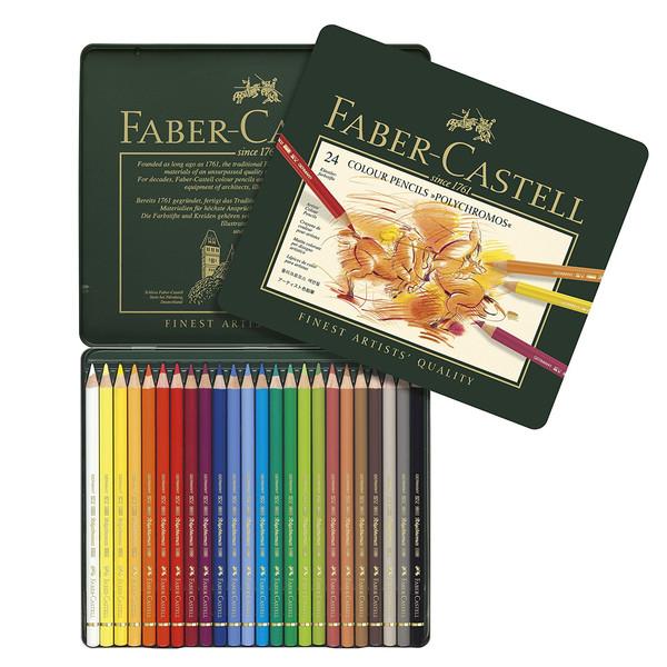 مداد رنگی 24 رنگ فابر-کاستل مدل پلي كروم