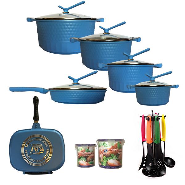 سرویس پخت و پز 23 پارچه کی اند آی مدل MARBLE
