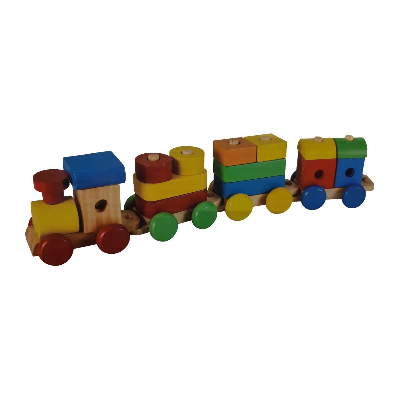 بازی آموزشی قطار چوبی مدل Puzzle Train