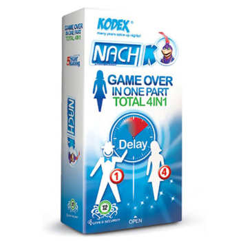 کاندوم تحریک کننده بانوان  کدکس مدل Game Over In One Part Total 4in1 بسته 12 عددی