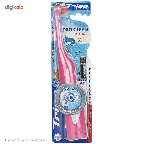 مسواک برقی تریزا سری Pro Cleanمدل Battery Kid  Trisa Pro Clean Battery Kid Electric Toothbrush