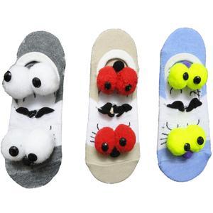 جوراب بچگانه طرح عروسکی pad2 مجموعه 3 عددی