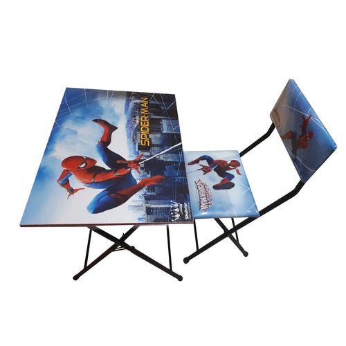 میز تحریر و صندلی تاشو و تنظیم شو شهریار طرح مرد عنکبوتی