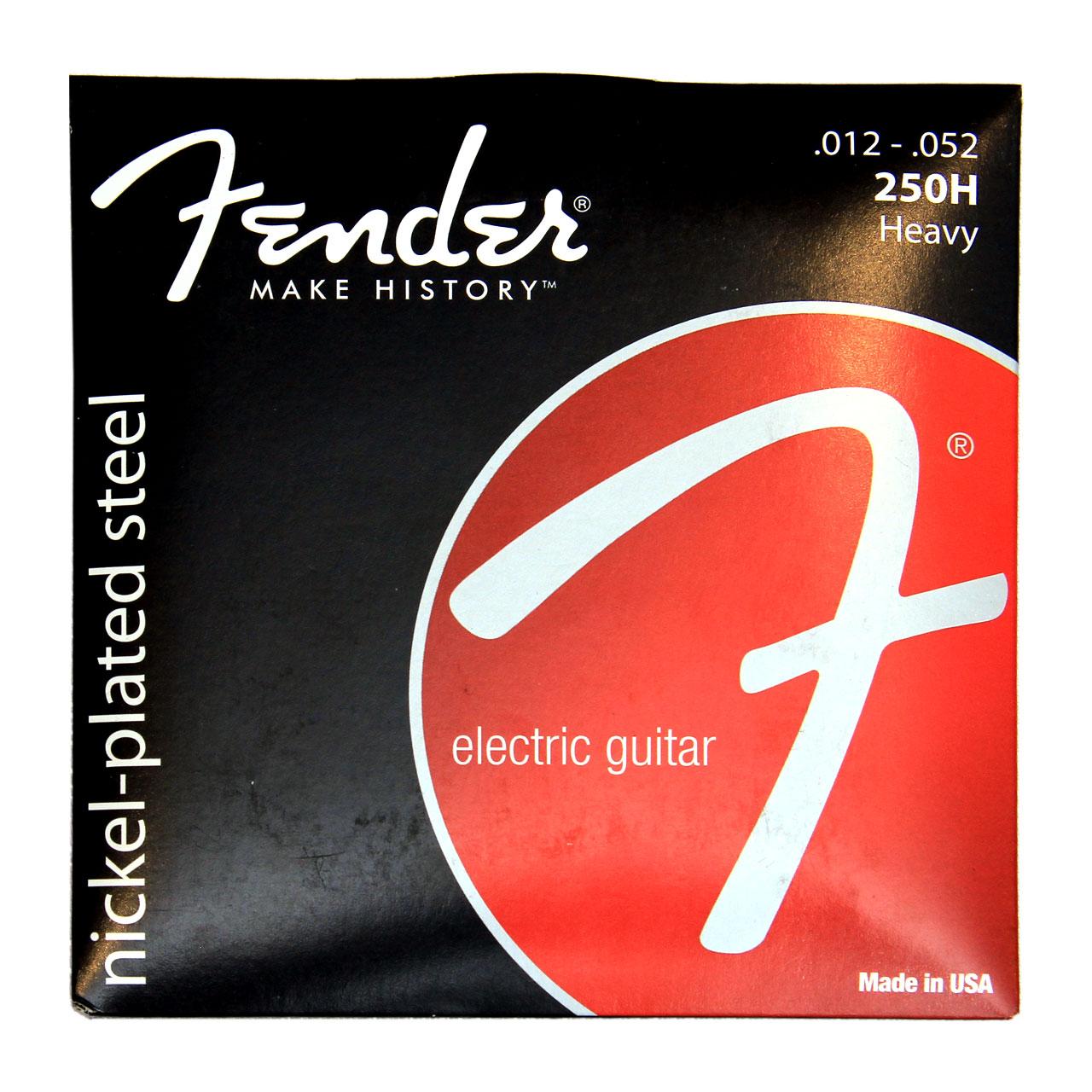 سیم گیتار الکتریک فندر 52-12 nickel-plated steel مدل 250H کد 100007