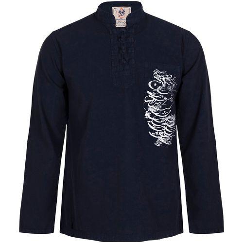 پیراهن مردانه چترفیروزه مدل چهارگره چاپی کد 7
